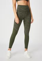 Cotton On - Panelled hem 7/8 tights - khaki