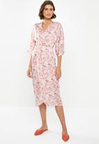 edit - Wrap over dress - multi