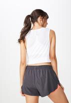 Cotton On - Move jogger short - nine iron/peach