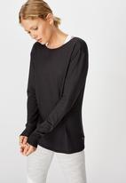 Cotton On - Back twist long sleeve top - navy