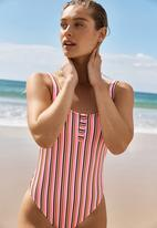 Cotton On - Henley one piece cheeky - multi