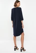 edit - Crepe tunic dress - navy