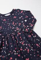 MINOTI - Infant girls dress - navy & pink