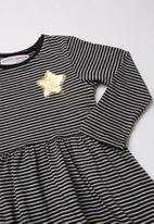 MINOTI - Baby girls dress - black & grey