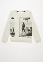 MINOTI - Slam dunk print sweatshirt - grey