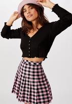 Factorie - Pleated skirt - pink/gingham