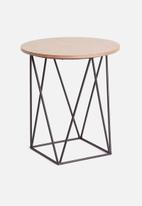 Sixth Floor - Wella side table - brown
