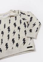 MINOTI - Sweatshirt & jog pant set - charcoal & grey