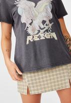 Factorie - Relaxed graphic T-shirt reign - black