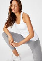 Cotton On - Active fitted tank top - white