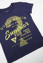 GUESS - Short sleeve superior tee - navy