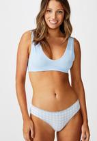 Cotton On - Charlotte lace trim bikini brief - blue