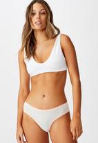 Cotton On - Charlotte lace trim bikini brief - grey