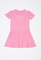 GUESS - Short sleeve Guess sandy  dress - pink
