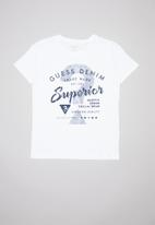 GUESS - Teens short sleeve Guess superior tee - white