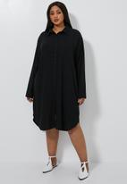 Superbalist - Shirt dress (plus) - black