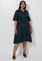 Superbalist - Dipped hem shirt dress - navy