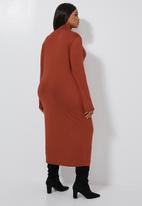Superbalist - Poloneck dress - rust