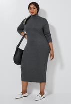 Superbalist - Poloneck dress - charcoal