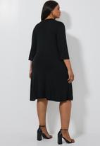 Superbalist - Ballerina sleeve pocket dress - black