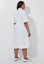 Superbalist - Dipped hem shirt dress - white
