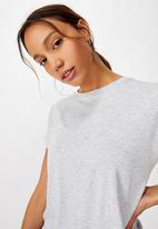 Cotton On - Drop sleeve tie back T-shirt - grey
