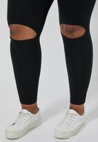 Superbalist - Knee slit leggings - black
