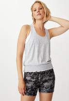 Cotton On - Ruched hem tank top - grey