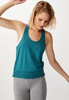 Cotton On - Ruched hem tank top - blue