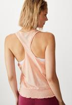 Cotton On - Ruched hem tank top soft cameo - pink