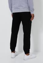 Superbalist - Cuffed utility woven jogger - black