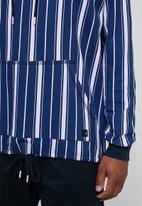 Superbalist - Vertical stripe drawstring hem pullover hoodie - multi