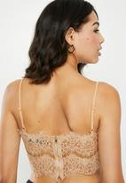 Missguided - Corded lace bralet - beige