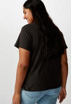 Cotton On - Curve graphic tee Sunday funday - black