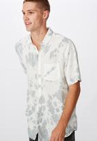 Cotton On - 91 short sleeve shirt - grey & white