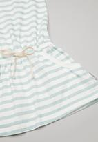 Sticky Fudge - Stripe playdress - blue & white