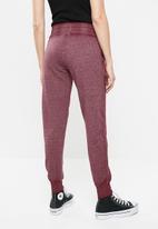 GUESS - Active burnout pants - burgundy