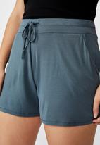 Cotton On - Curve sleep recovery shorts - blue