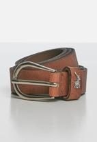 POLO - Zoe leather belt - brown