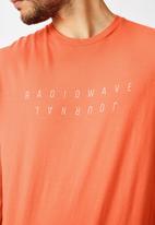 Cotton On - Tbar text short sleeve tee - orange