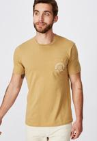 Cotton On - Tbar text short sleeve tee - beige