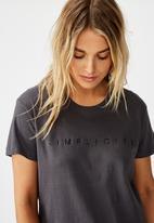Cotton On - Classic arts T-shirt simplicity - grey