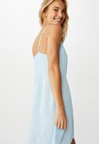 Cotton On - Woven kendall mini dress - blue