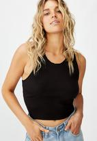 Cotton On - The sweetheart tank top - black