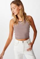 Cotton On - The sweetheart tank top heart stripes - multi