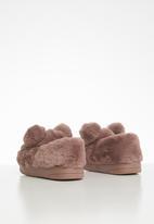 POP CANDY - Bear slipper - dirty pink