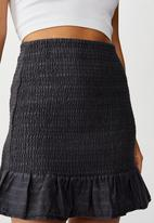 Cotton On - Shirred mini skirt - black & grey