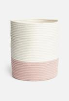 Sixth Floor - Two-toned cotton rope basket - pink