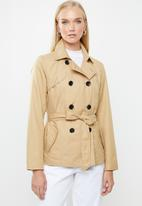 ONLY - Laura short trench - beige