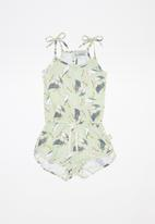 Sticky Fudge - Pelican becky playsuit - multi
